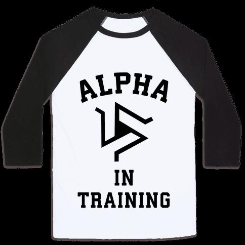 Alpha In Training Baseball Tee