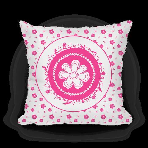 Springtime Floral Mandala (Pink and Whitel)