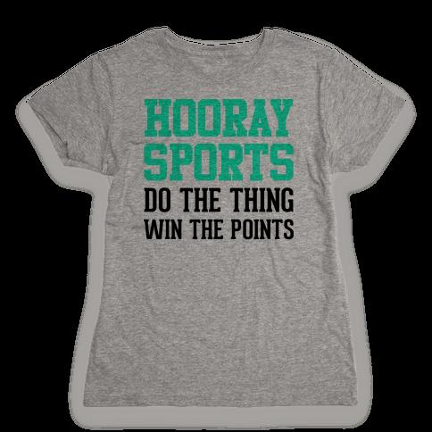 Hooray Sports (Teal) Womens T-Shirt
