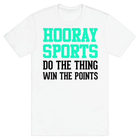 Hooray Sports (Teal) Mens T-Shirt