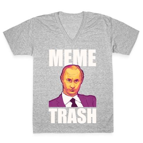 Meme Trash Vladimir Putin V-Neck Tee Shirt