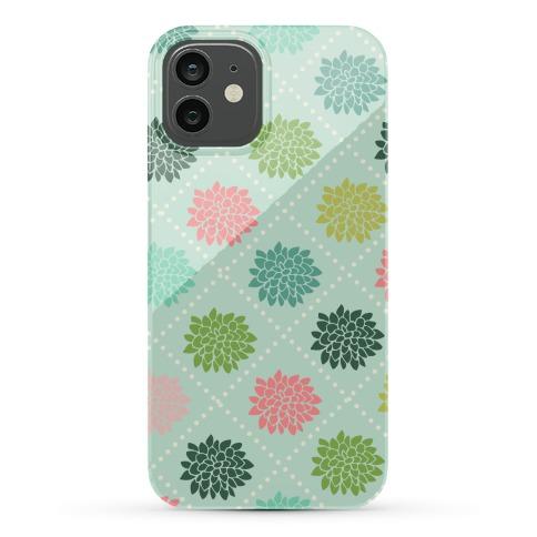 Diagonal Flower Pattern Phone Case
