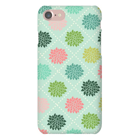 Diagonal Flower Pattern Phone Case