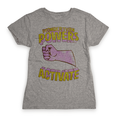 Wonder Twin Powers Activate 2 Womens T-Shirt