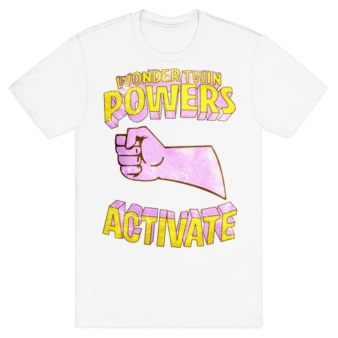 Wonder Twin Powers Activate 2 Mens T-Shirt