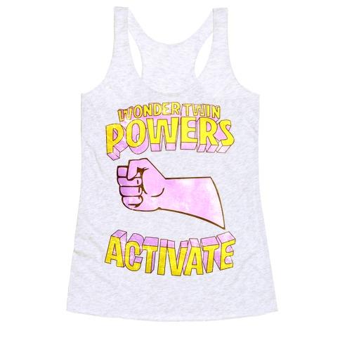 Wonder Twin Powers Activate 2 Racerback Tank Top