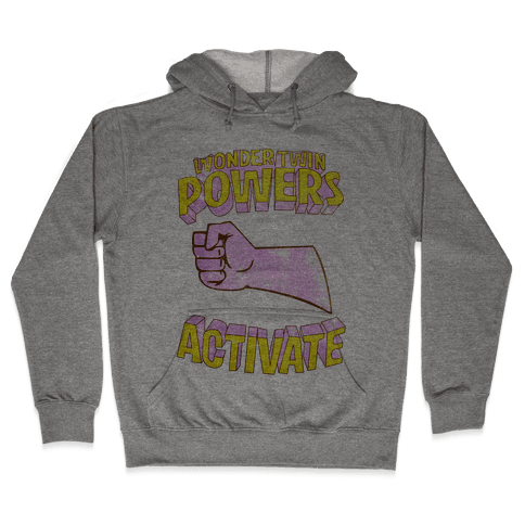 Wonder Twin Powers Activate 2 Hooded Sweatshirt