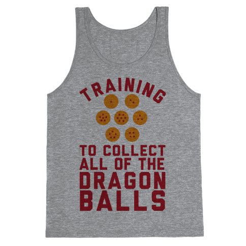 Training To Collect All Of The Dragon Balls Tank Top