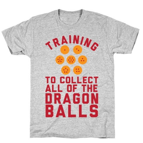 Training To Collect All Of The Dragon Balls T-Shirt