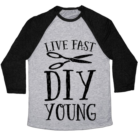 Live Fast DIY Young Baseball Tee