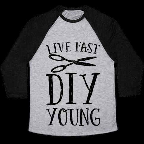 Live Fast DIY Young Baseball Tee