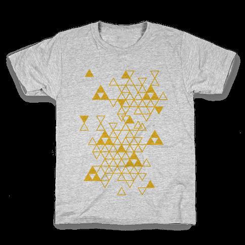 Geometric Triforce Pattern Kids T-Shirt
