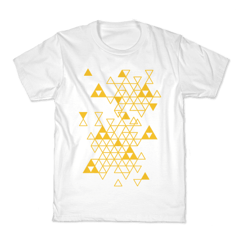 Geometric Triforce Pattern Kids T-Shirt
