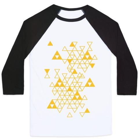Geometric Triforce Pattern Baseball Tee