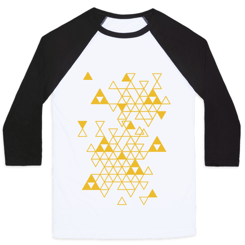 Geometric Triforce Pattern Baseball Tee