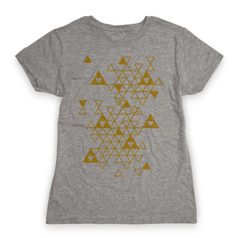 Geometric Triforce Pattern Womens T-Shirt