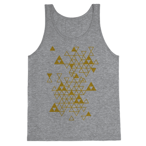 Geometric Triforce Pattern Tank Top