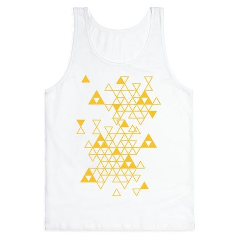 Geometric Triforce Pattern Tank Top