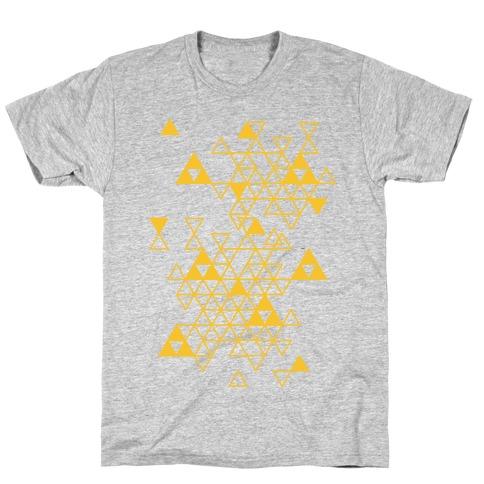 Geometric Triforce Pattern T-Shirt