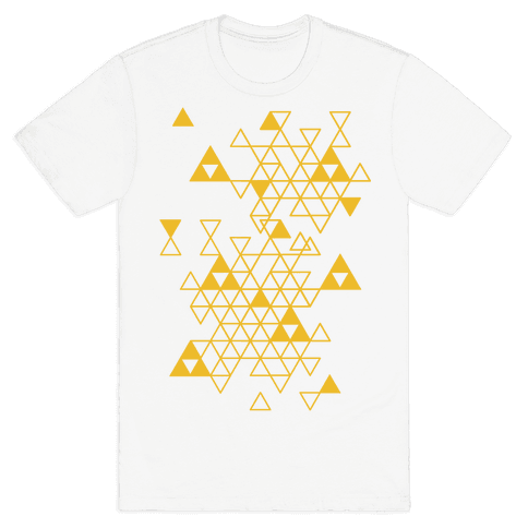 Geometric Triforce Pattern Mens T-Shirt