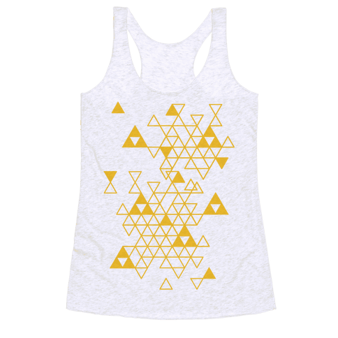 Geometric Triforce Pattern Racerback Tank Top