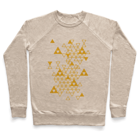 Geometric Triforce Pattern Pullover
