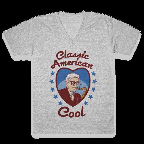 Classic American Cool V-Neck Tee Shirt