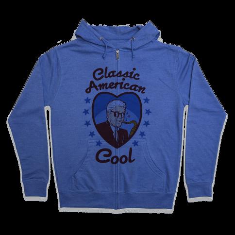 Classic American Cool Zip Hoodie