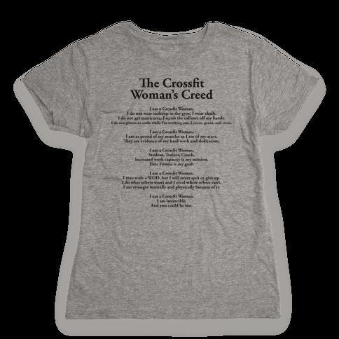The Crossfit Woman's Creed (Dark Tank) Womens T-Shirt