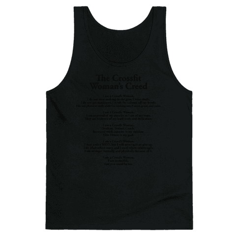The Crossfit Woman's Creed (Dark Tank) Tank Top