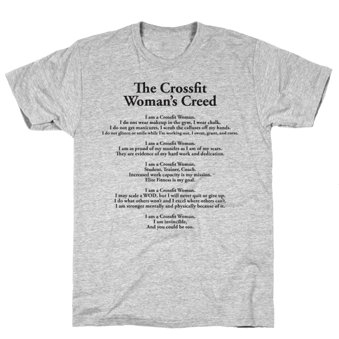The Crossfit Woman's Creed (Dark Tank) Mens T-Shirt