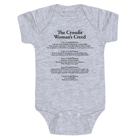 The Crossfit Woman's Creed (Dark Tank) Baby Onesy