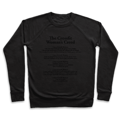 The Crossfit Woman's Creed (Dark Tank) Pullover