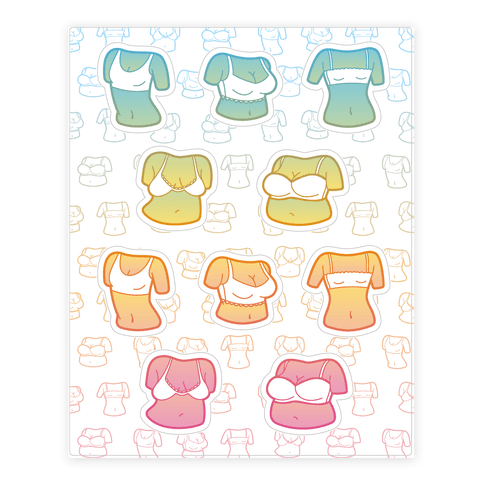 Pastel Boob  Sticker/Decal Sheet