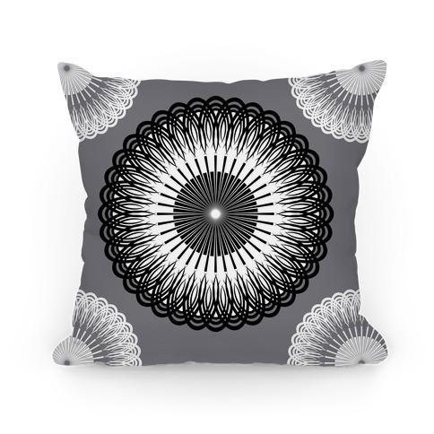 Black and White Flower Mandala