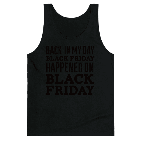 Black friday was Black friday (dark) Tank Top