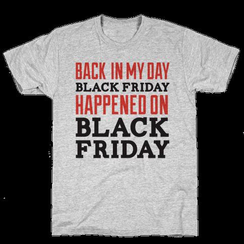 Black friday was Black friday (dark) Mens T-Shirt
