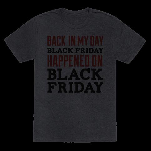 Black friday was Black friday (dark)