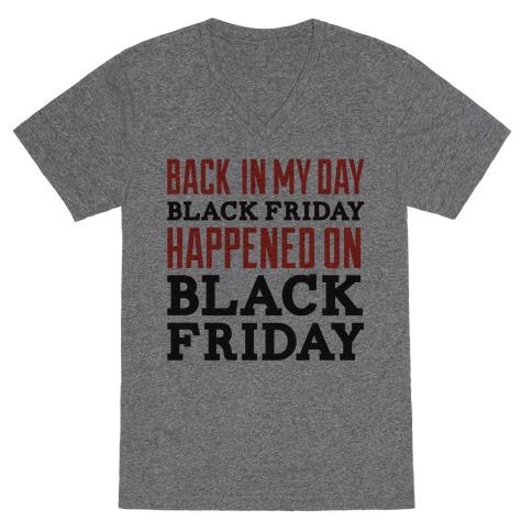 Black friday was Black friday (dark) V-Neck Tee Shirt