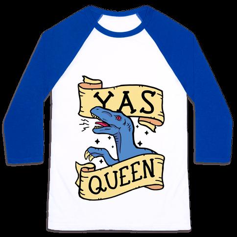 Yas Queen Raptor Baseball Tee