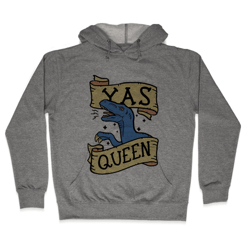 Yas Queen Raptor Hooded Sweatshirt