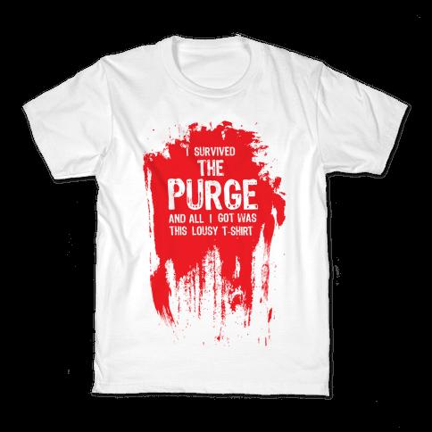 I Survived The Purge Kids T-Shirt