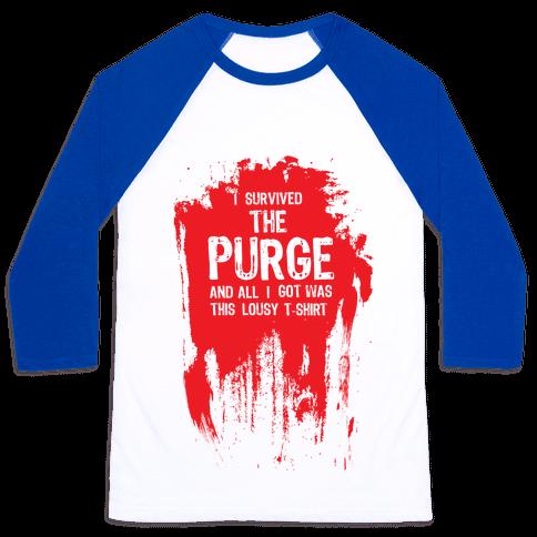 I Survived The Purge Baseball Tee