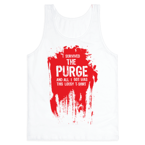 I Survived The Purge Tank Top