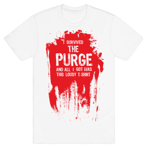 I Survived The Purge Mens T-Shirt