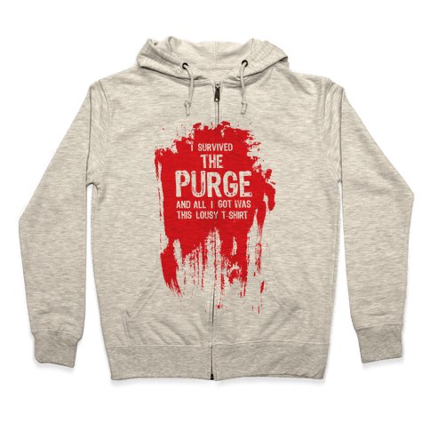 I Survived The Purge Zip Hoodie
