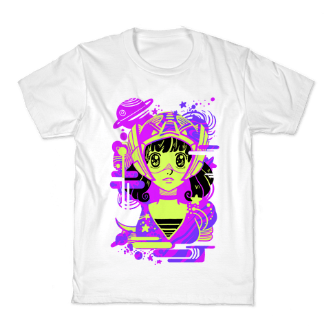 Neon Anime Space Cadet Kids T-Shirt