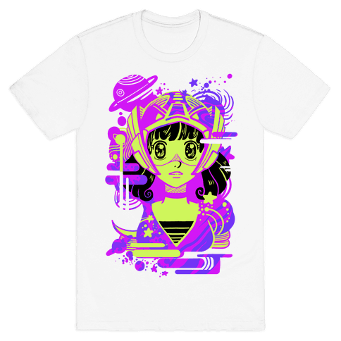 Neon Anime Space Cadet Mens T-Shirt
