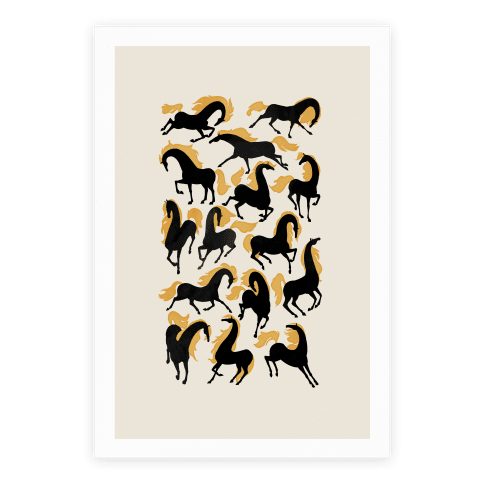 Fiery Wild Horses Poster