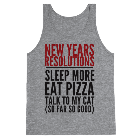 New Year Resolutions Tank Top